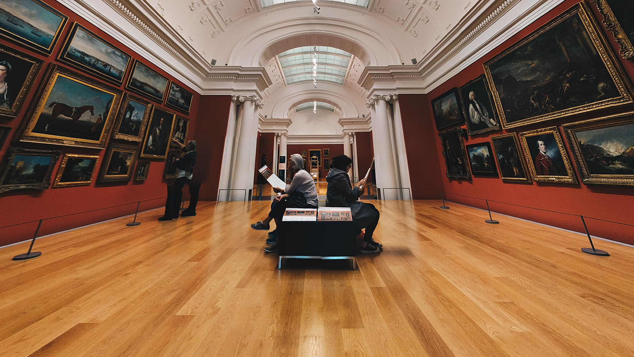 Sitting in Gallery